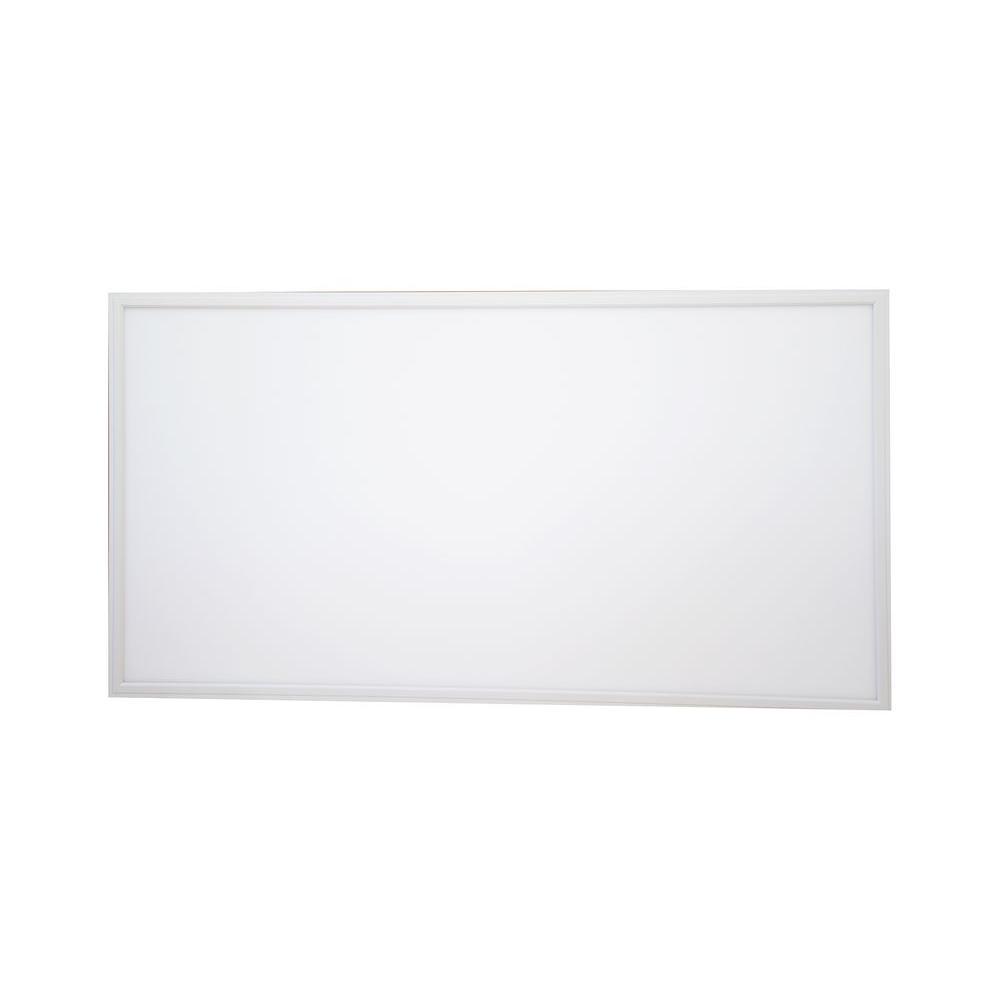 white led edge lit flat panel dimmable flushmount set of 2 2 ft x 4 ft novacommerce. Black Bedroom Furniture Sets. Home Design Ideas
